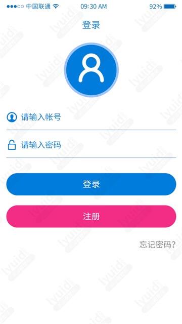 APP登录界面设计登录UI界面设计 (APP设计,APP UI界面设计就找前沿视觉网(lyuid.com)联系QQ:1297335737、联系微信:w1297335737)